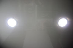 Bathroom lighting. Of two lamps royalty free stock image
