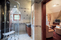 Bathroom and living room Royalty Free Stock Photos