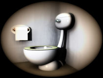 Bathroom Loo 5. An image of a loo within a bathroom Royalty Free Stock Images