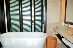 The bathroom in luxurious hotel Royalty Free Stock Photography