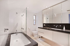 Bathroom of the luxurious house Stock Image