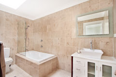 Bathroom of the luxurious house Royalty Free Stock Images