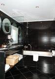 Bathroom in the luxury apartment royalty free stock photos