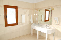 Bathroom in the luxury apartment Stock Photo