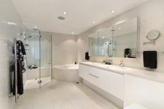 Bathroom in luxury apartment Stock Photos