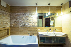 Bathroom in luxury home Royalty Free Stock Photos