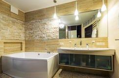 Bathroom in luxury home Stock Image