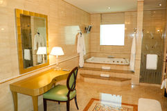 Bathroom in luxury hotel Royalty Free Stock Images