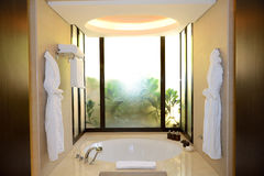 Bathroom in the luxury hotel Stock Photography