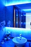 Bathroom. In a luxury hotel room Stock Photos