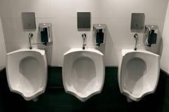 bathroom luxury modern urinals Στοκ Φωτογραφίες