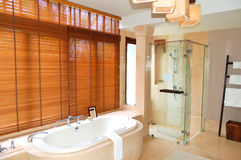 Bathroom at the luxury villa. Samui island, Thailand royalty free stock photos