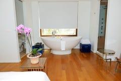 Bathroom in the luxury villa. Crete, Greece royalty free stock photos