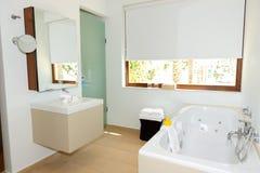 Bathroom in the luxury villa. Crete, Greece stock photo
