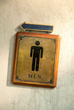 Bathroom Male symbols Royalty Free Stock Photos