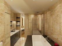 Bathroom.Marble. Ilustración del Vector
