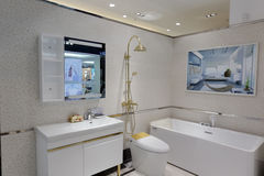 Bathroom model room Royalty Free Stock Images