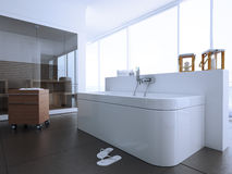 Bathroom. Modern bathroom in a apartment stock illustration