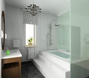 Bathroom. Modern design of interior royalty free stock image