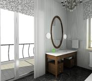 Bathroom. Modern design of interior Royalty Free Stock Photography