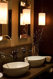 Bathroom. Modern designed bathroom in brown colors Royalty Free Stock Photography