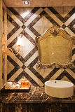 The bathroom. Modern family or hotel decoration, pay attention to the design of the bathroom Stock Photo