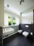 Bathroom of modern house Royalty Free Stock Photo