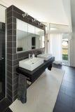 Bathroom of modern house Royalty Free Stock Image