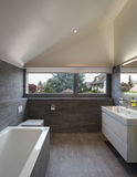 Bathroom of a modern house. Interior of a house, bathroom modern design royalty free stock photography