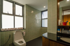 Bathroom in a modern house Royalty Free Stock Photos