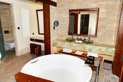Bathroom in the modern luxury hotel Royalty Free Stock Images