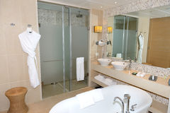 Bathroom in the modern luxury hotel Stock Images