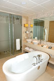 Bathroom in the modern luxury hotel Stock Photography