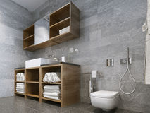 Bathroom modern style Royalty Free Stock Images