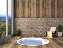 Bathroom in modern style. 3D illustration Stock Image