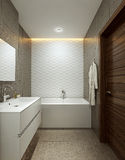 Bathroom in modern style Royalty Free Stock Photos