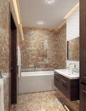 A bathroom in modern style Stock Photos