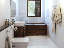 Bathroom in modern style. Bathroom modern style, 3d images stock image
