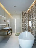 Bathroom modern style. 3d images stock photo