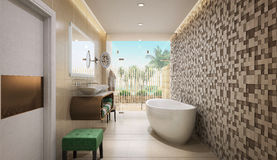 Bathroom modern style Stock Images