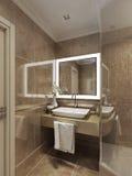 Bathroom modern style Stock Image