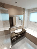 Bathroom in modern style Royalty Free Stock Photo