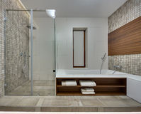 Bathroom in a modern style Stock Images