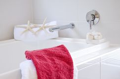 Bathroom in modern townhouse Stock Image