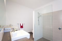 Bathroom in modern townhouse Royalty Free Stock Images