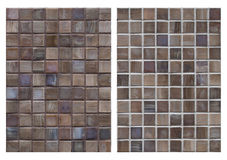 Mosaic and different plaster Stock Photos