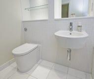 Bathroom with mosaic tiles Stock Photos