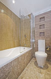 Bathroom with mosaic tiles Stock Photography