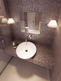 Bathroom in the neoclassical style. 3d visualization Stock Photography