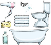 Bathroom objects vector illustration